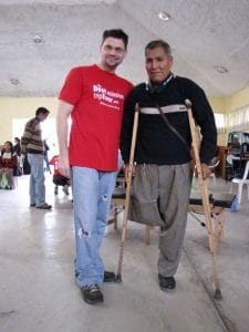 Dr Jeff with his elderly patient in Peru