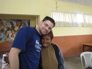 Dr Jeff with his patient in Peru