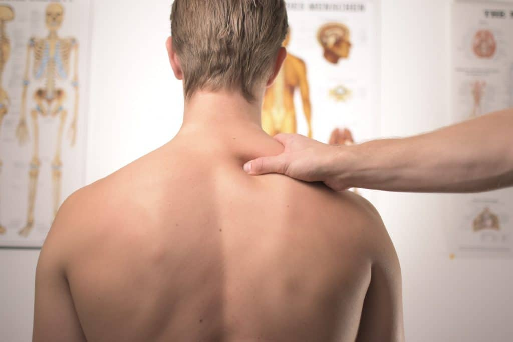Back treatment for a man