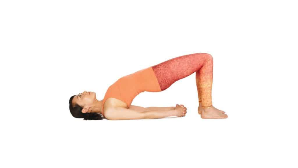 Stretches for Tailbone pain relief: Bridge Pose