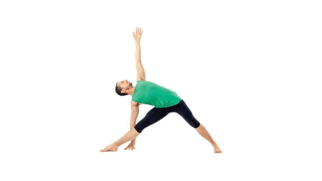 Stretches for Tailbone pain relief: Triangle Pose