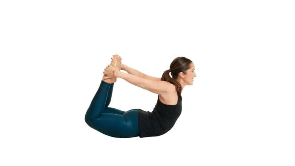 Stretches for Tailbone pain relief: Bow Pose