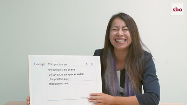 Dr Jenny dispelling urban myths on Google common search question about Chiropractor
