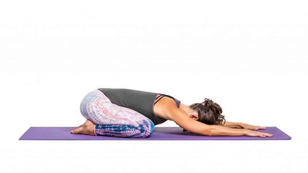 Stretches for Tailbone pain relief: Child's pose