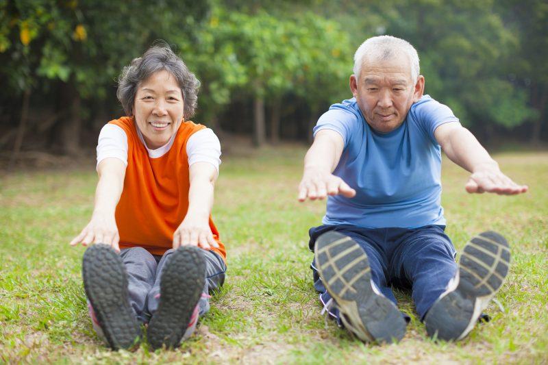 Senior healthy fitness couple
